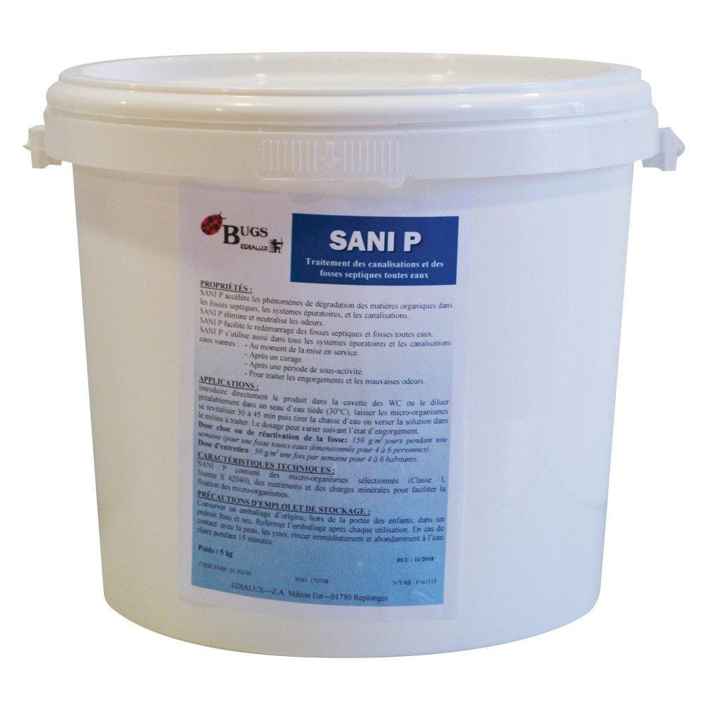 Punaise De Lit Traitement Peau Génial Sani P 5 Traitement Des Fosses Septiques En 5 Kg Edialux