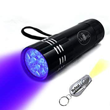 Mydeal Visiroom UV Ultraviolet Blacklight 9 LED Lampe torche de
