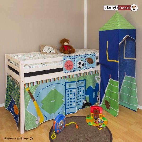 Rideau Pour Lit Mezzanine Nouveau Rideau De Lit Unique Lit Superposes Ball Enfants Jouez Lit Pin