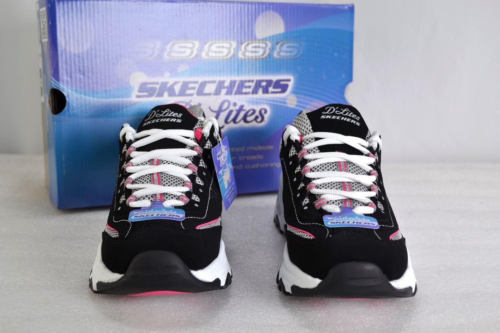 Skechers D Lites 2 Bel Skechers 6m Black White Pink Centennial D Lites Lace Up