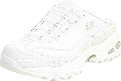Skechers Women s D Lites Airy Mule White UK 7 Amazon Shoes