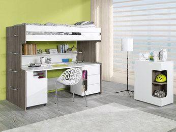 Table De Chevet Lit Mezzanine Inspirant Lit Biné Mezzanine Bloom Coloris Truffe Et Blanc Lit Surélevé