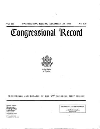 Moeller High School 1984 85 Football Congressional Record