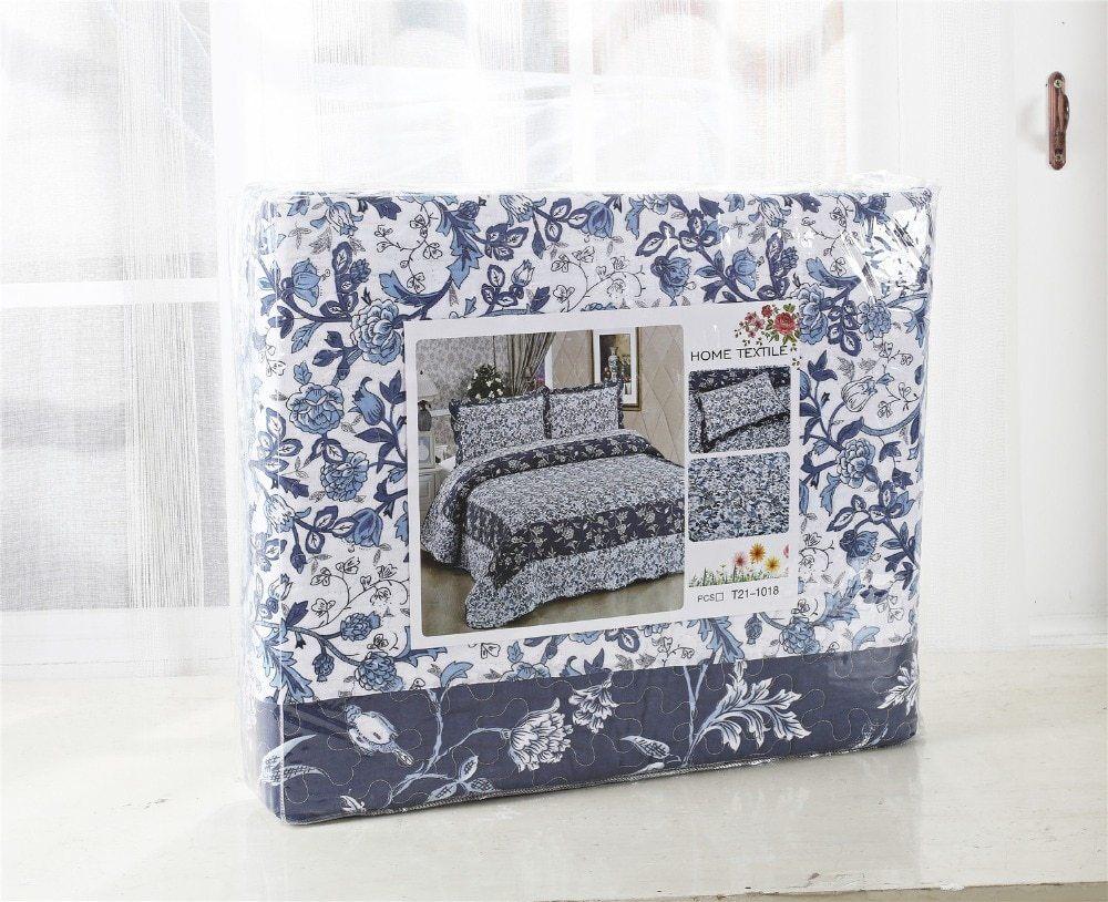 CLORIS Europe Coton Patchwork Couvre lits 3 pi¨ces Vintage