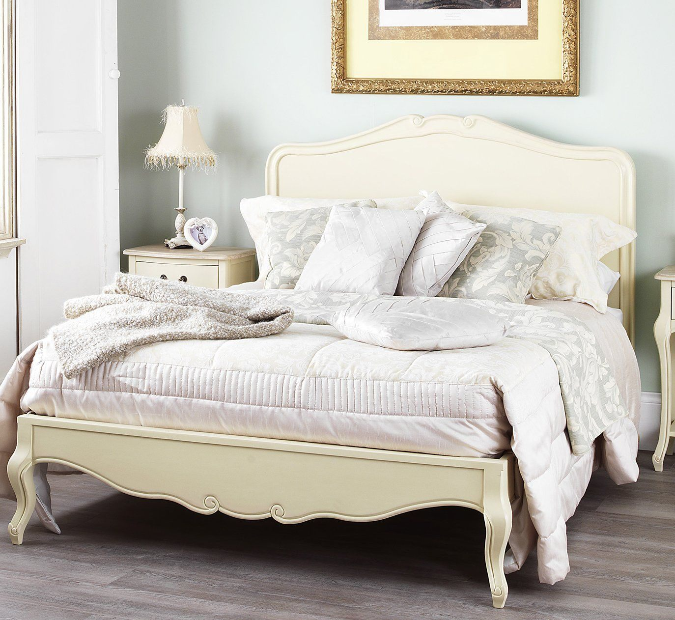 Tete De Lit Amazon Nouveau Shabby Chic Champagne 5ft King Bed with Wooden Headboard Amazon