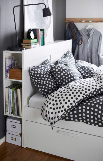 Tete De Lit Avec Chevet Meilleur De Close Up Of Bed with Ikea Headboard with Storage In the Sides for