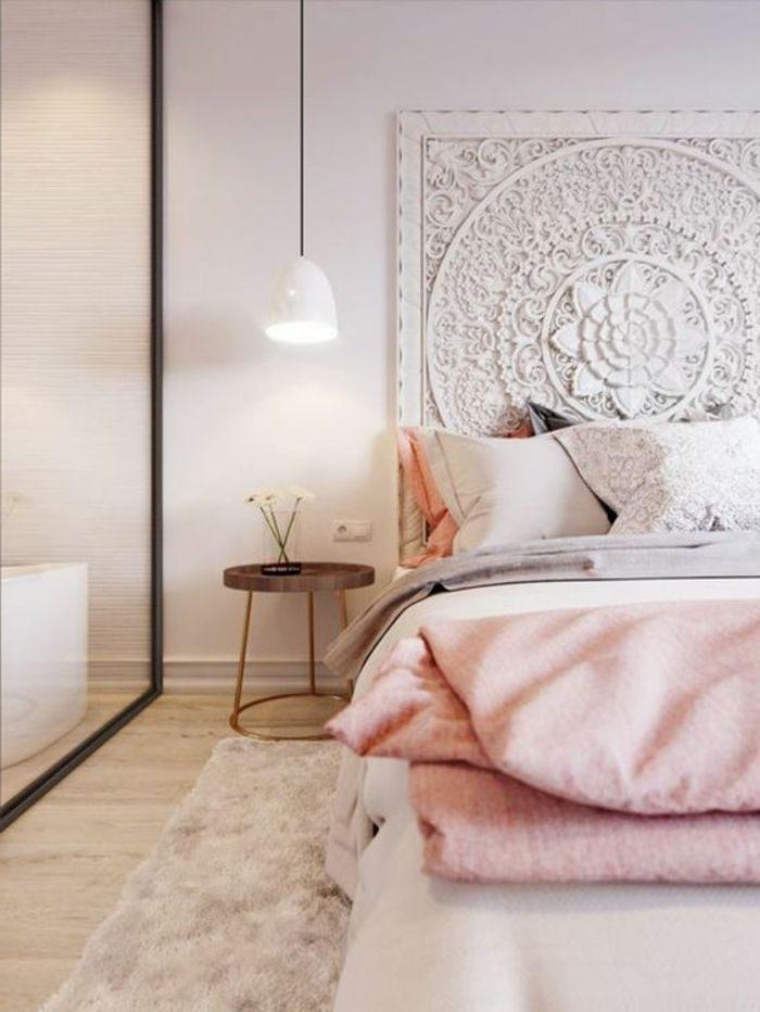Tete De Lit Deco Douce ▷ 1001 Idées Pour Chambre Rose Et Gris Les Nouvelles Tendances