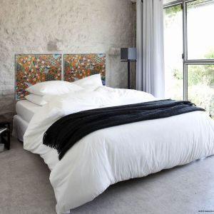 Tete De Lit En Bois Blanc Frais Diy Tete De Lit Chambre Decoration Taupe Et Blanc Beige Bois Diy