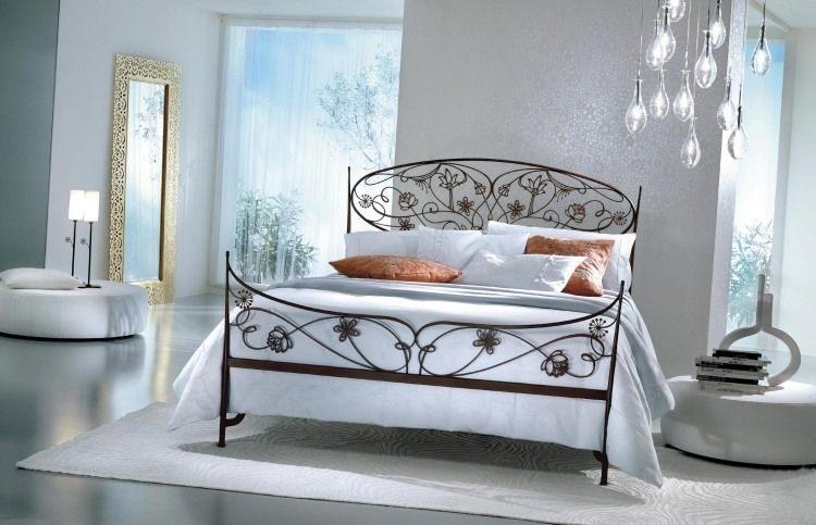 Tªte de lit originale en fer forgé 30 idées inspirantes