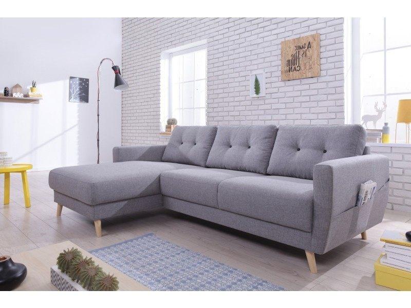 oslo canapé d angle gauche 225x147x86cm couleur gris clair