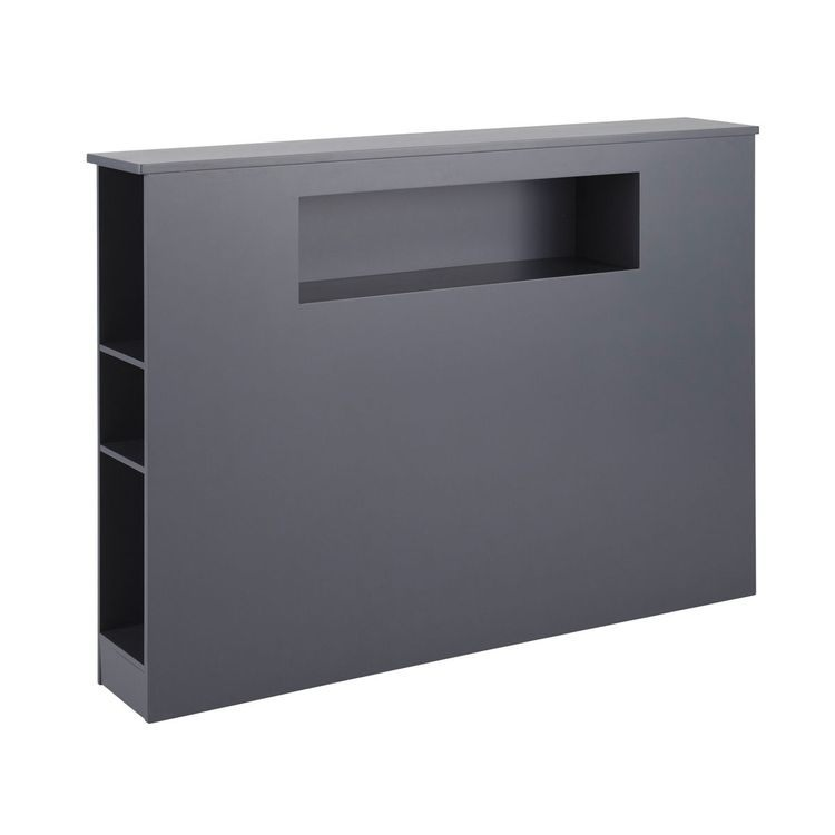 Tªte de lit grise L 140 cm