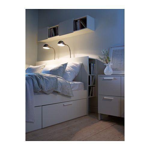 Tete De Lit Ikea Brimnes Joli Brimnes Tªte De Lit  Rangement Intégré Blanc