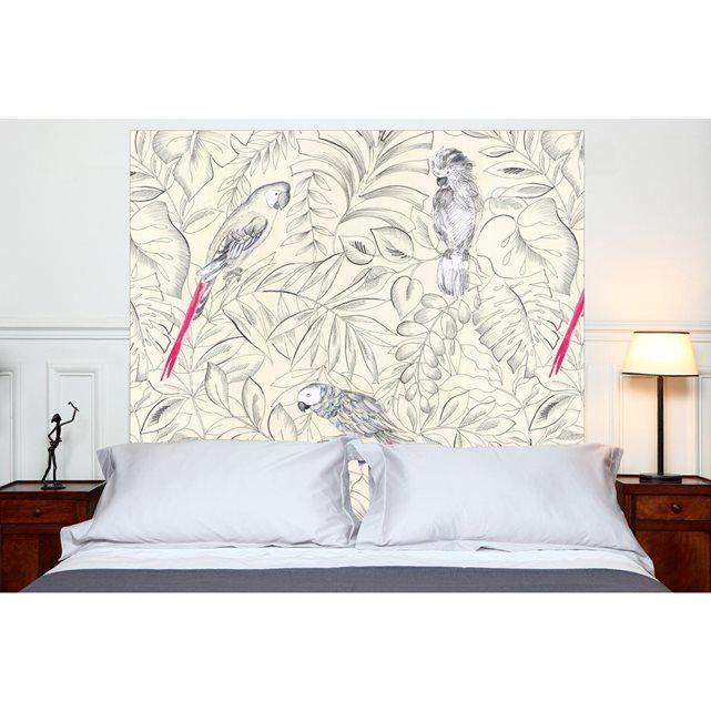 Tete De Lit Mademoiselle Tiss Magnifique Tªte De Lit En Tissu Perroquets  Fixer Au Mur Sans Support En