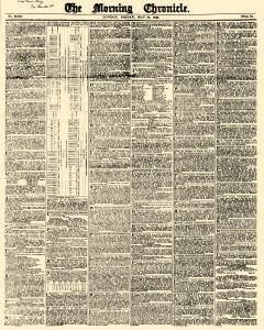Tete De Lit Nature Bel Morning Chronicle Newspaper Archives May 19 1843
