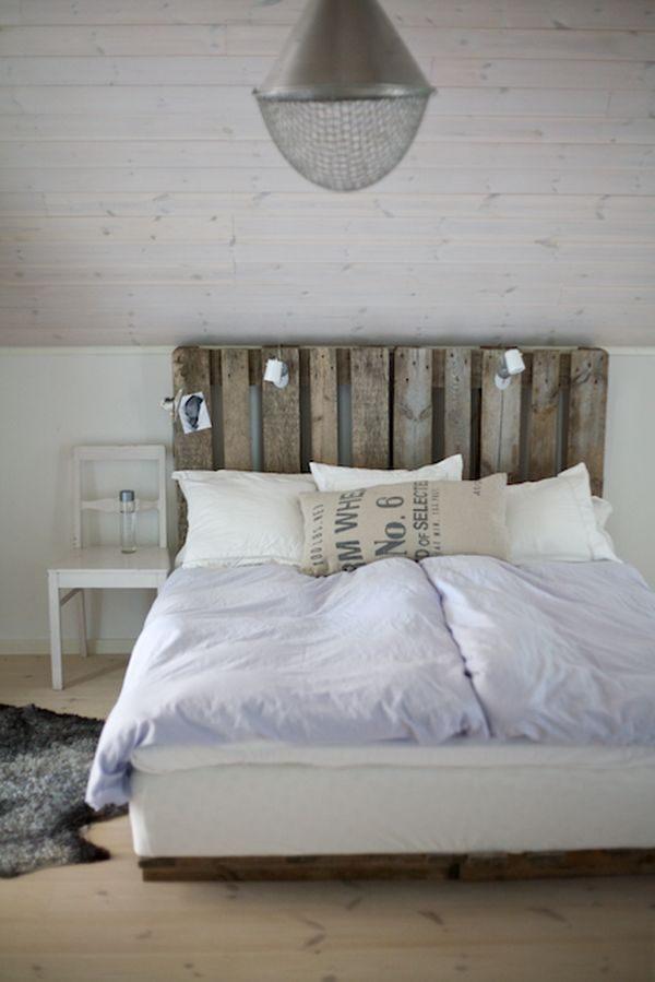 Tete De Lit Palette De Bois Agréable Chambre Scandinave Idée De Bricolage Tªte De Lit