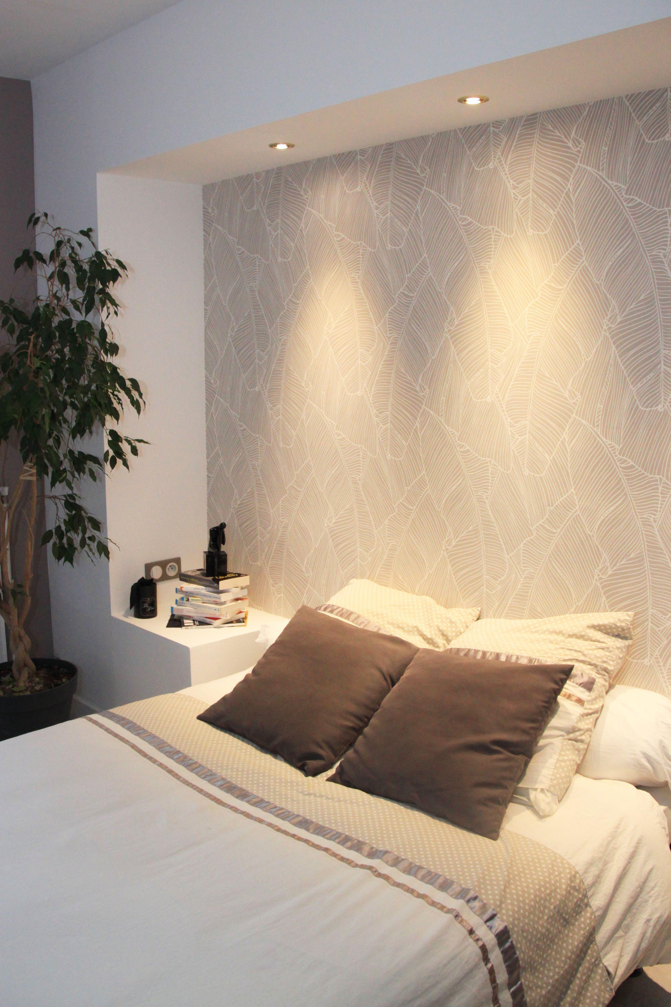 Tete De Lit Romantique Bel Enchantant Papier Peint Chambre Adulte Romantique Dans Unique