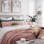 Tete De Lit Rose Le Luxe Chambre Rose Et Gris Idées Déco Trendy Pour Adulte Et Enfant