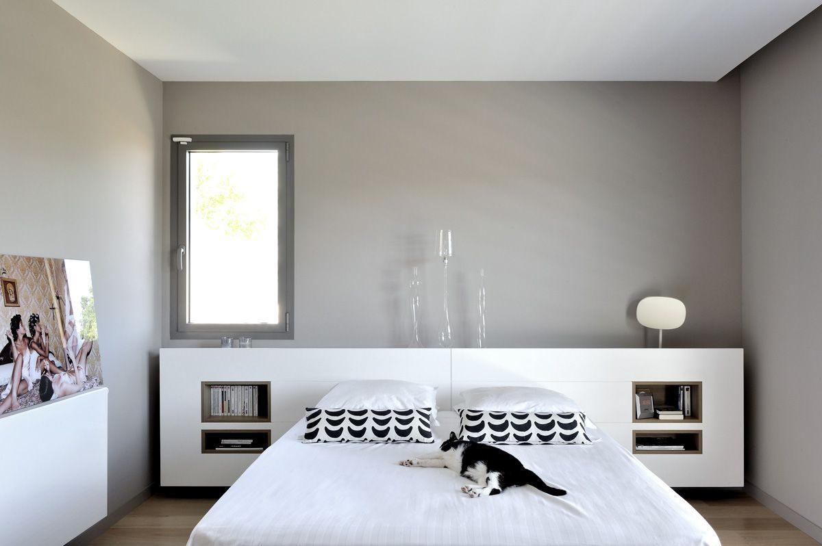Tete De Lit Sur Mesure Inspiré Maison Contemporaine Dans L Ouest De Lyon Suite Parentale Avec Tªte