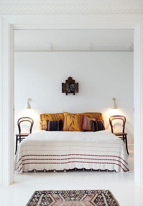 Tete De Lit Table De Chevet Agréable Pin Av Mathilde Cecilie Lobben On Interior Bedroom