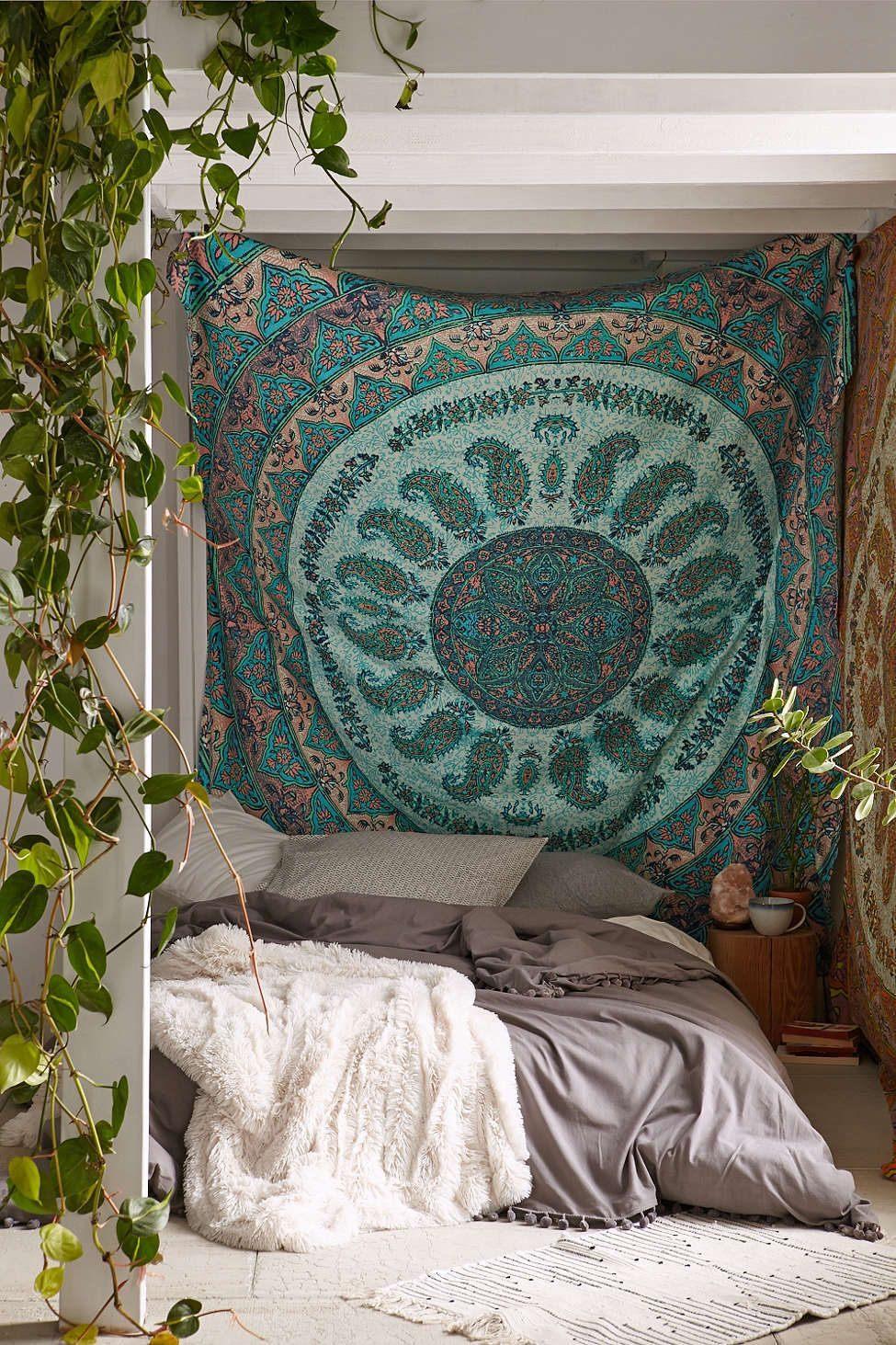 Tete De Lit Tapisserie Inspiré Plum & Bow Laila Medallion Tapestry Home Decor