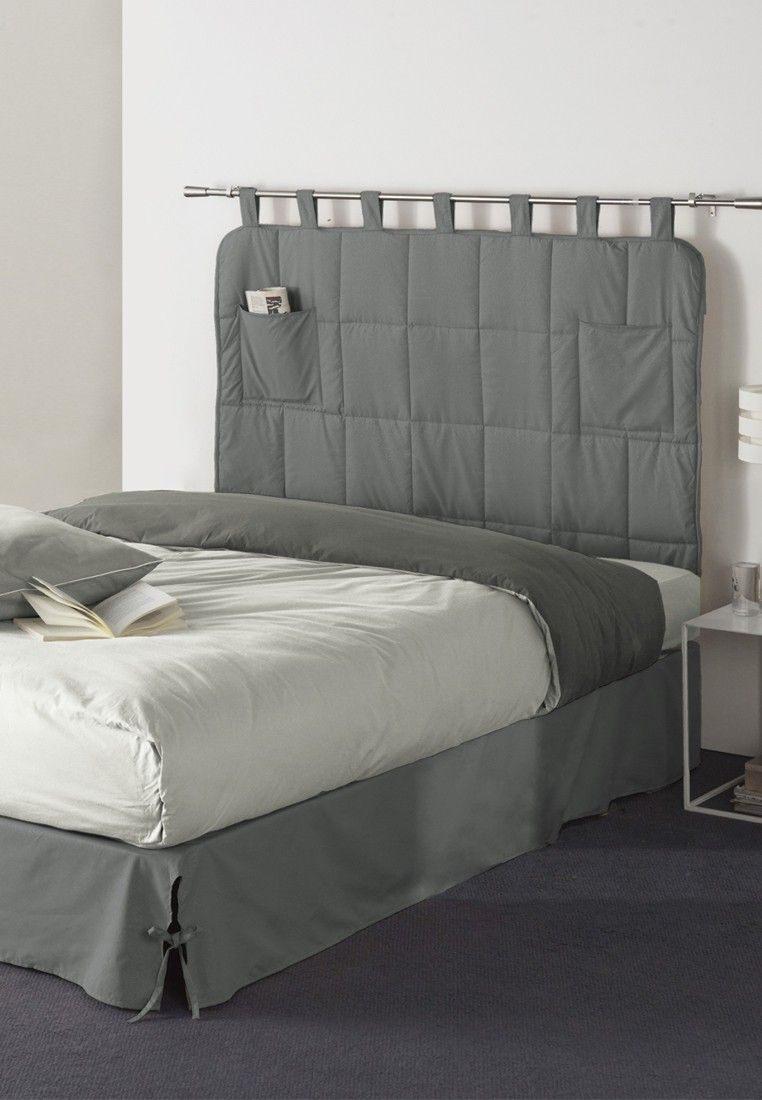 Tissu Pour Tete De Lit Impressionnant Tªte De Lit Grise En Tissu Pour La Décoration De Votre Chambre