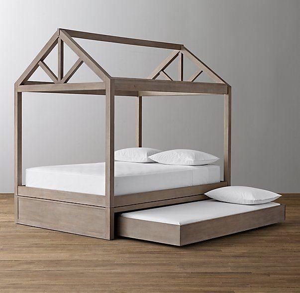Tour De Lit 140×190 Le Luxe Cole Framed House Bed with Trundle Base ДРя Bebe