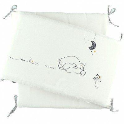 Tour de lit en veloudoux Timeless pour lits 60 x 120 cm ou