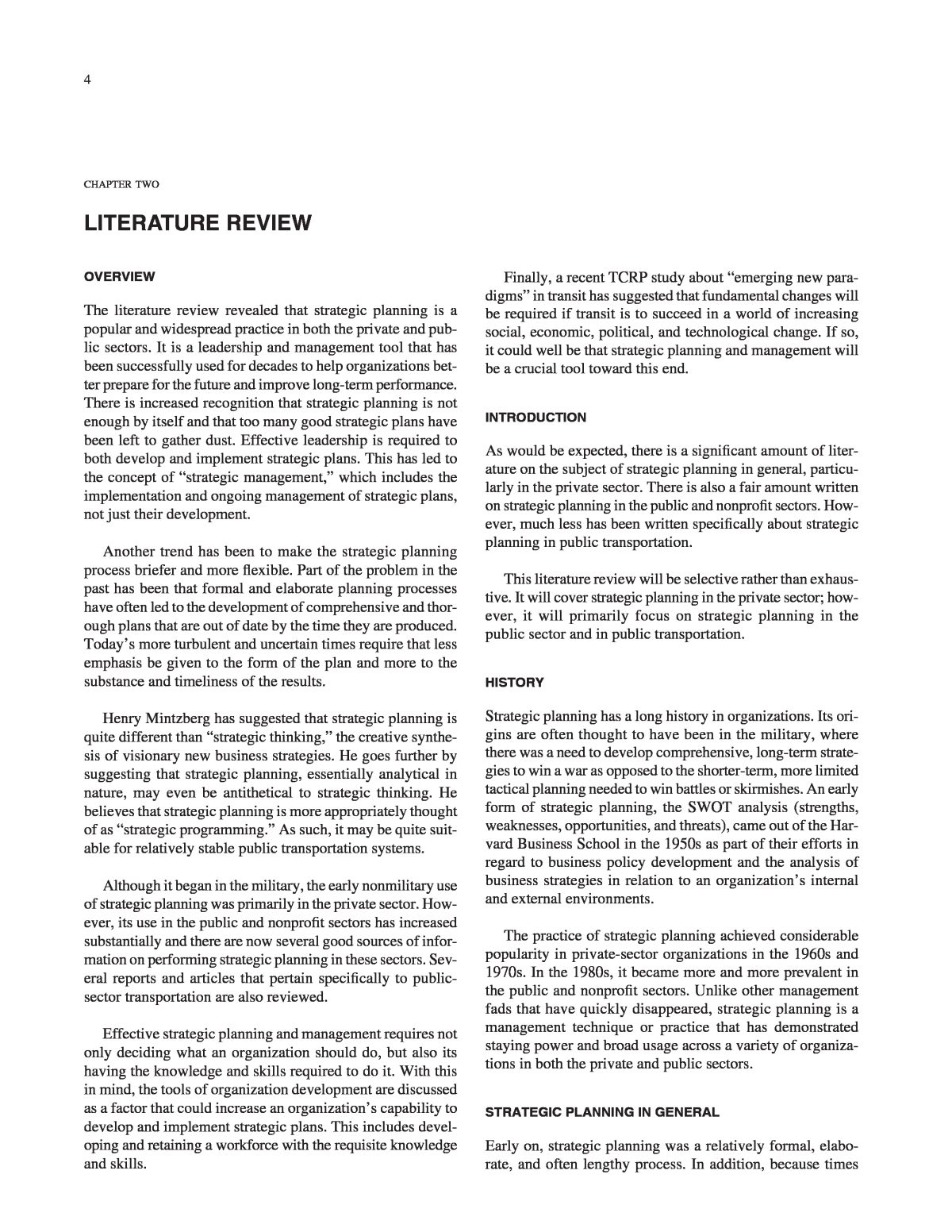Chapter Two Literature Review