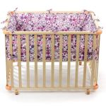 Tour De Lit Babyfan Inspiré Baby Vivo Playpen Square Wood with soft Layer 4 100 X 75