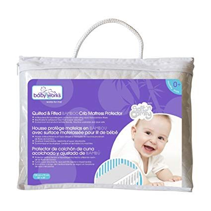 Tour De Lit Bebe 9 Charmant Quilted and Fitted Bamboo Crib Mattress Protector
