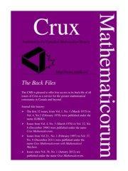 Tour De Lit Bébé Avis Unique Crux Mathematicorum 2 Pages 1 50 Text Version