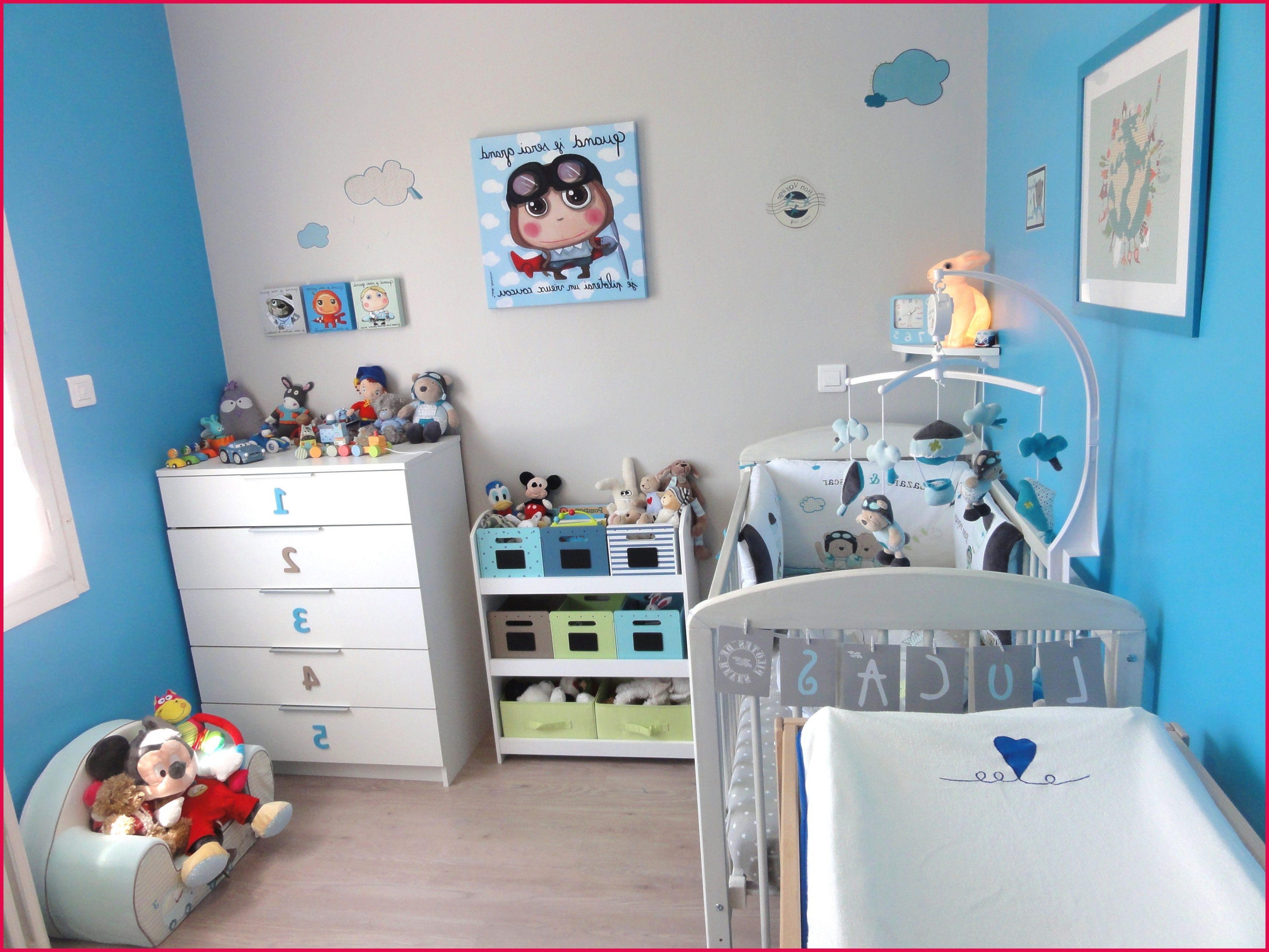 Tour De Lit Bébé Bleu Bel Décoration De Chambre Pour Bébé — Mikea Galerie