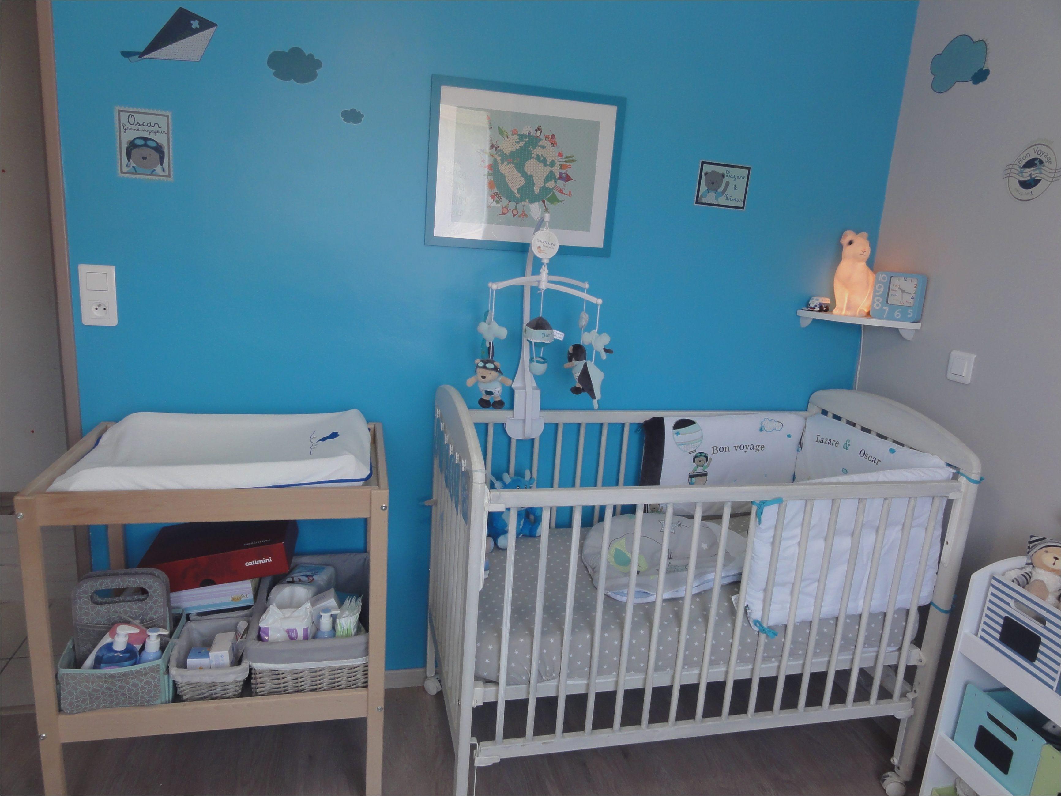Tour De Lit Bébé Bleu Élégant Passionné Chambre De Bébé Pas Cher tour De Lit Bébé Gar§on — Mikea