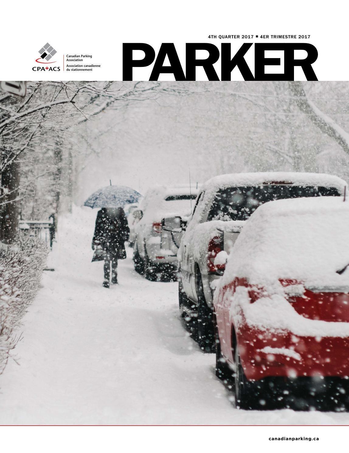 Tour De Lit forme Nuage Nouveau Parker 4 Quarter 2017 by Canadian Parking association issuu