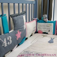 Tour De Lit Gris Et Rose Bel Лучших изображений доски Аксессуары Детская комната Baby Room