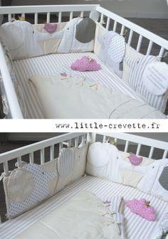Tour De Lit Gris Et Rose Douce Лучших изображений доски Детская кроватка 32