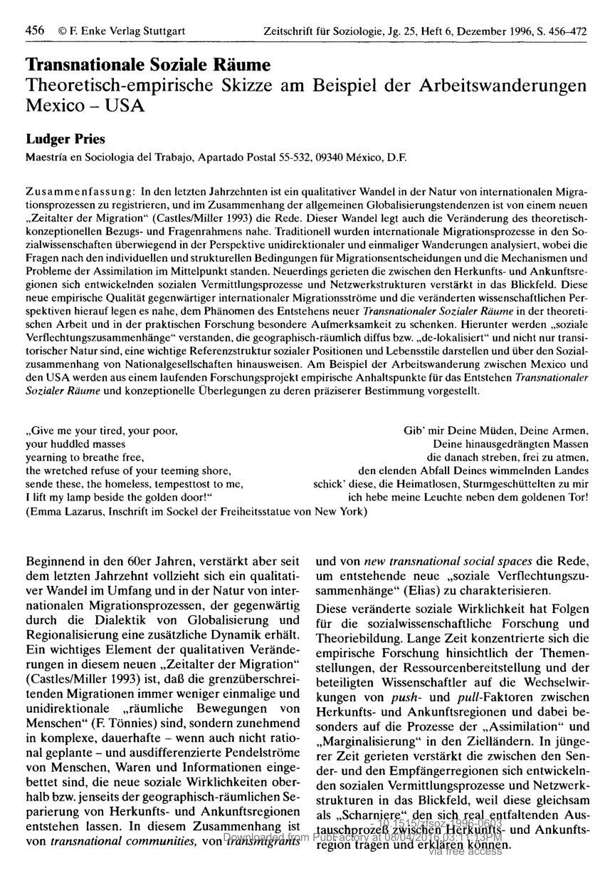 PDF Tracing mobilities Towards a cosmopolitan perspective