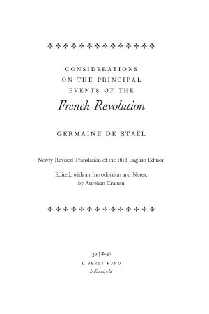 Tour De Lit Liberty Belle Considerations On the Principal events Of the French Revolution Lf