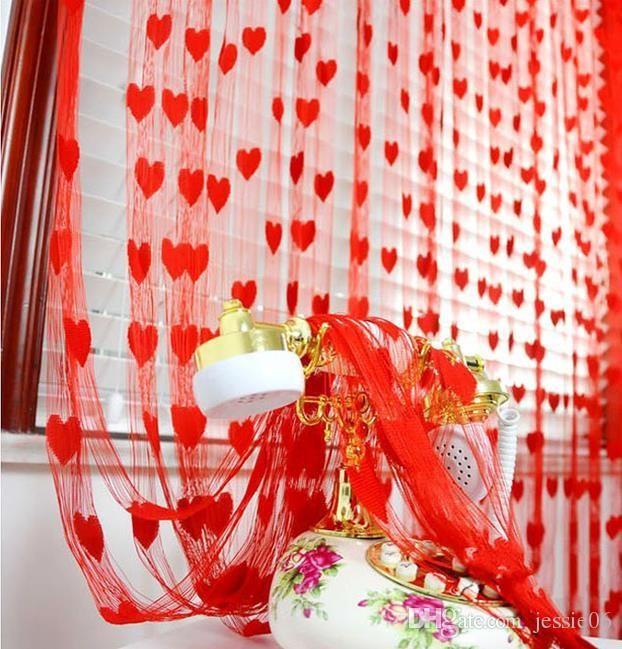 Tour De Lit Mixte Génial Acheter Décor De Mariage Rideau Amour Coeur Gland écrans Diviseurs