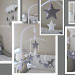 Tour De Lit Nuage Magnifique Chambre Bebe Etoile Luxe Tour De Lit Bébé Nuage Et étoile Gris Blanc