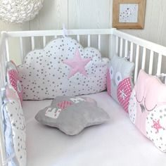 Tour De Lit Rose Et Gris De Luxe 222 Best Kid S Room Images On Pinterest