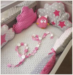Tour De Lit Rose Et Gris Génial 108 Best Baby Cot Deco Images In 2019