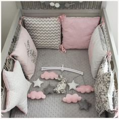 Tour De Lit Rose Et Gris Inspirant 108 Best Baby Cot Deco Images In 2019