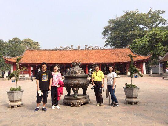 Temple of Literature first University of Vietnam Hanoi City Tour