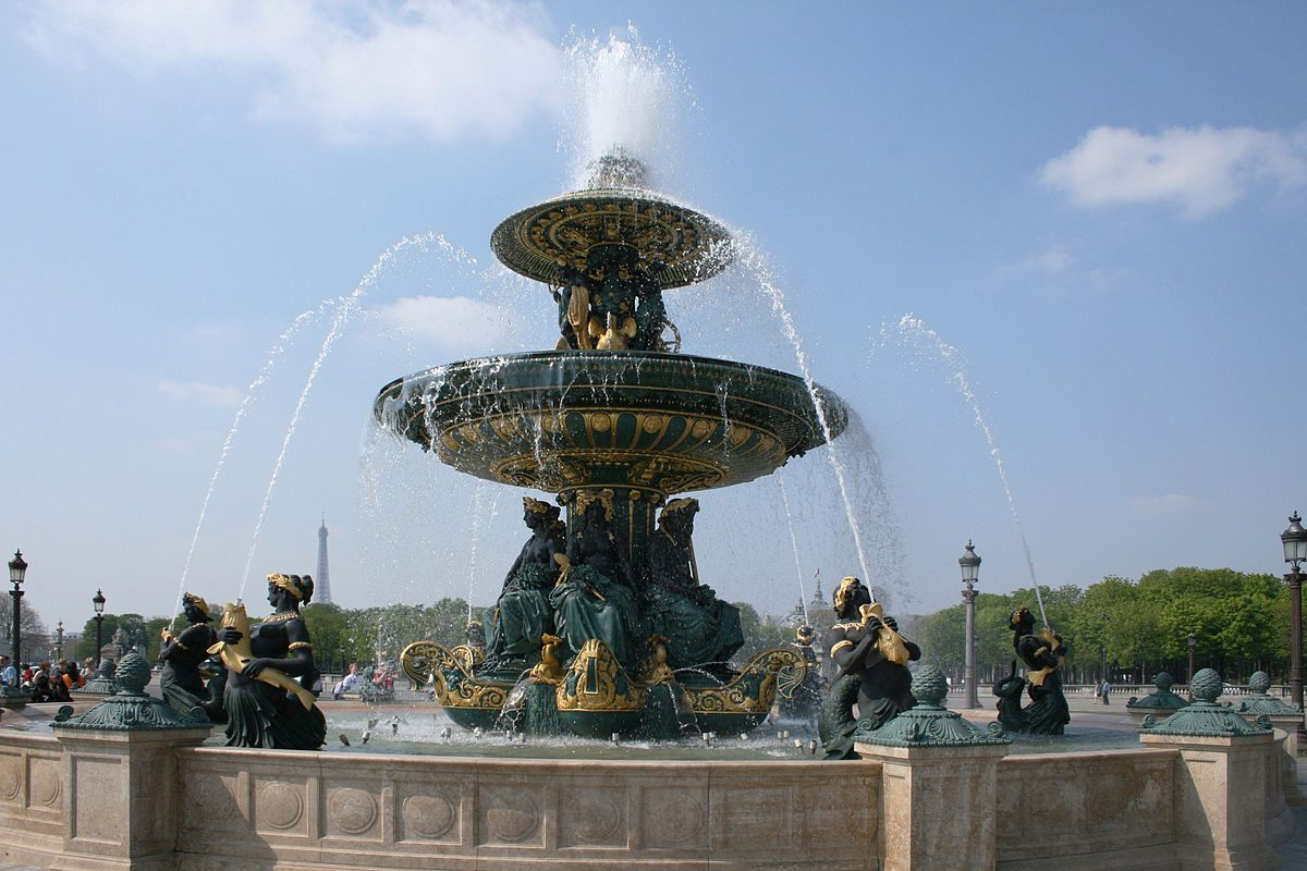 Tour De Lit Vert D Eau Joli Fountains In Paris
