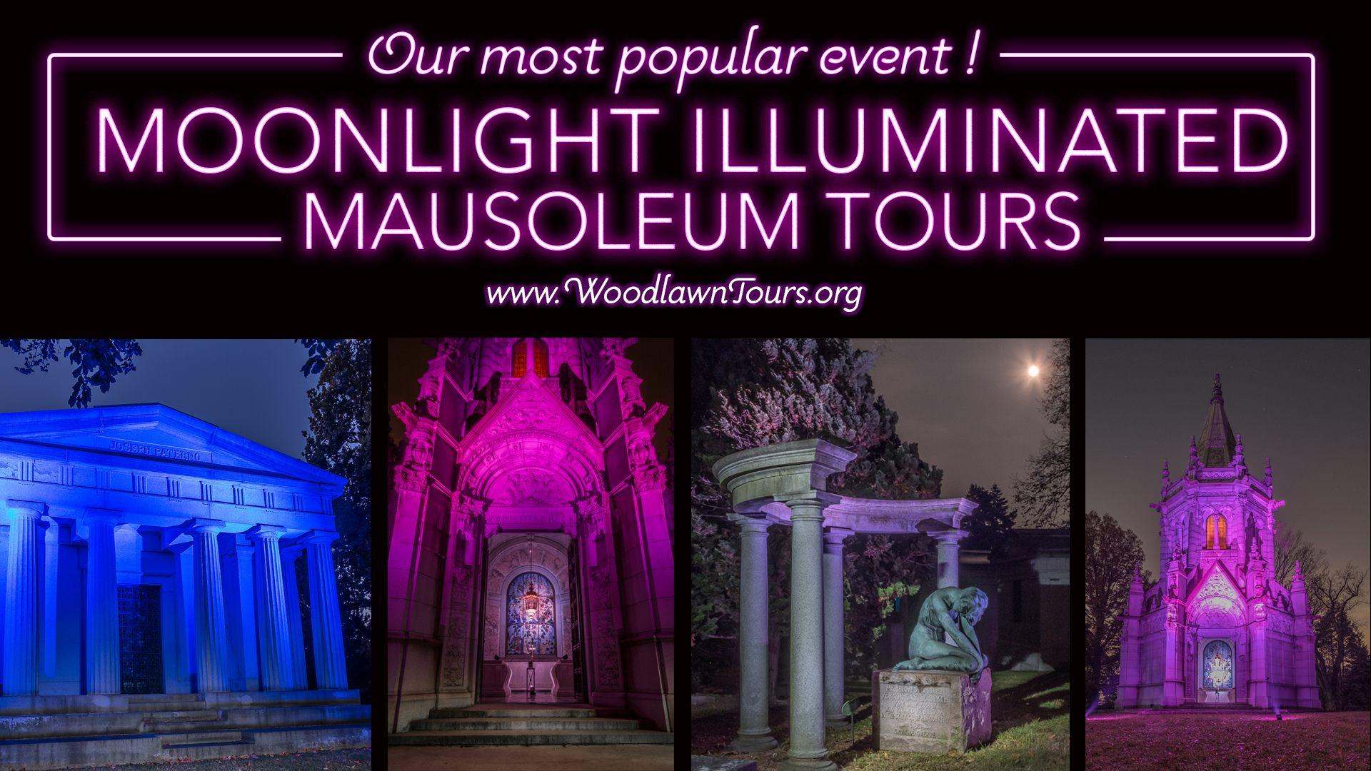Tour De Lit Violet Douce tours & events the Woodlawn Cemetery