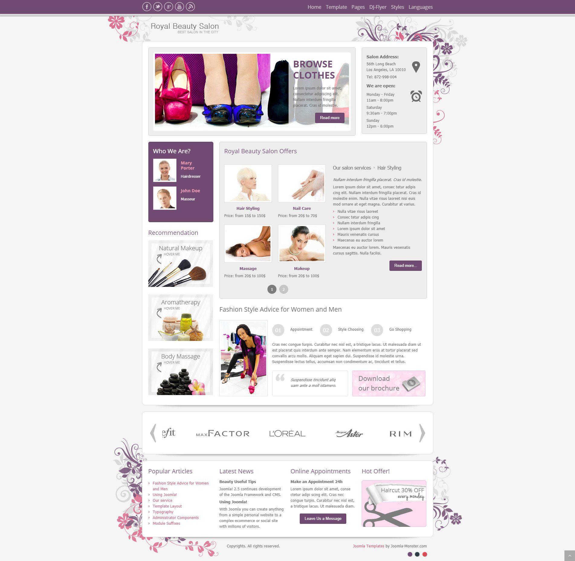 Tour De Lit Violet Frais Joomla Templates & Joomla Extensions