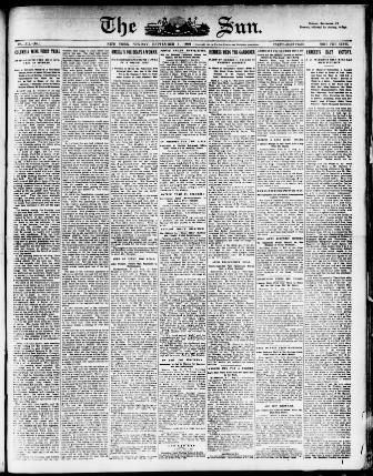 Tuto Tete De Lit Inspiré the Sun New York [n Y ] 1833 1916 September 01 1901 Image 1