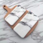 Verin Lit Coffre Bloqué Luxe ჱnouvelle Arrivée Blanc Granit Marbre Pierre Cas Peint Pour IPhone