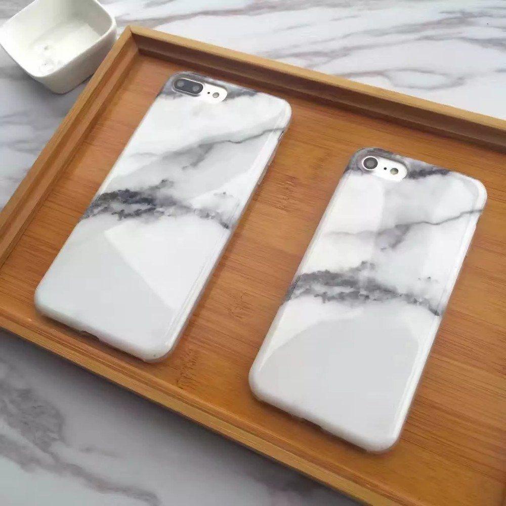 Verin Lit Coffre Bloqué Nouveau ჱnouvelle Arrivée Blanc Granit Marbre Pierre Cas Peint Pour iPhone